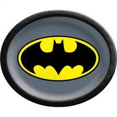 Batman Heroes Unite Large Oval Paper Plates (Pack of 8)
