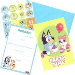 Bluey Party Invitation Set (Pack of 8)