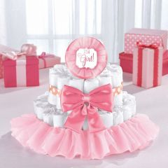 Baby Shower It's a Girl Diaper Cake Decorating Kit