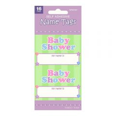 Baby Shower Name Tag Stickers (Pack of 16)