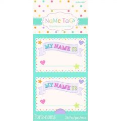 Baby Shower Name Tag Stickers (Pack of 26)