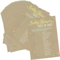 Baby Shower Guess The Price Game (Pack of 24)