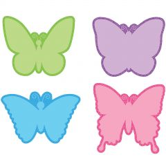 Pastel Butterfly Cutout Decorations (Pack of 48)