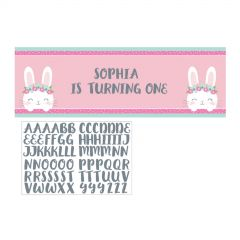 Floral Bunny Personalised Giant Banner