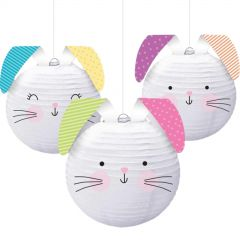 Hello Bunny Paper Lanterns (Pack of 3)