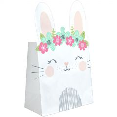 Pack of 8 Floral Bunny Lolly/Treat Bags