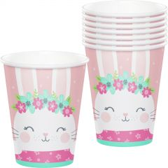 Floral Bunny Paper Cups (Pack of 8)