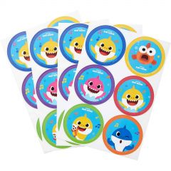 Baby Shark Stickers (4 Sheets)