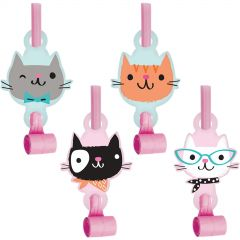 Purr-fect Party Blowers (Pack of 8)