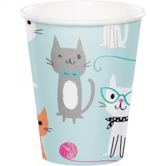 Purr-fect Party Paper Cups (Pack of 8)