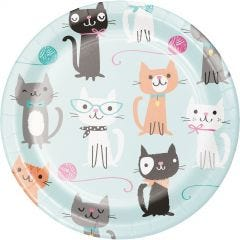 Purr-fect Party Small Paper Plates (Pack of 8)