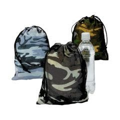 Camouflage Drawstring Bags (Pack of 12)