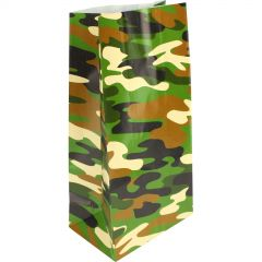 Camouflage Paper Lolly/Treat Bags (Pack of 12)