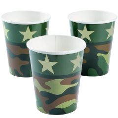 Army Party Paper Cups (Pack of 8)