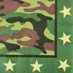 Army Party Large Napkins / Serviettes (Pack of 16)