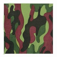 Army Party Small Napkins / Serviettes (Pack of 16)