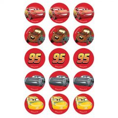Cars 3 Edible Cupcake Decorations (Pack of 15)