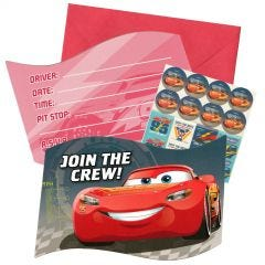Cars 3 Party Invitation Set (Pack of 8)