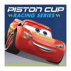 Cars 3 Small Napkins / Serviettes (Pack of 16)