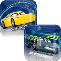 Cars 3 Small Paper Plates (Pack of 8)