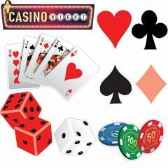 Vegas Cutout Decorations (Pack of 4)
