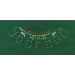 Casino Place Your Bets Blackjack Table Cover