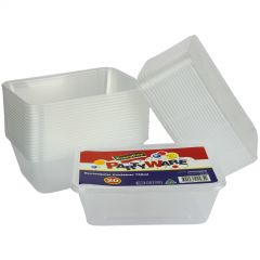 Plastic Takeaway Containers With Lids 750ml (Pack of 20)