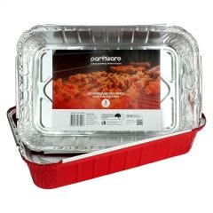 Red Foil Trays 31cm x 20.5cm x 6cm (Pack of 3)