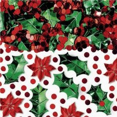 Christmas Poinsettia & Holly Confetti/Table Scatters 70g