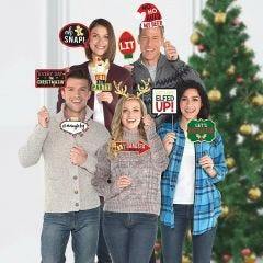 Christmas Slogans Photo Booth Props (Pack of 13)
