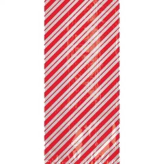 Candy Cane Striped Cellophane Treat Bags 28cm (Pack of 20)