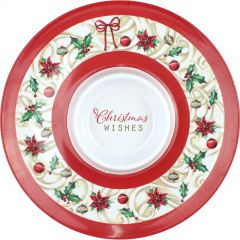 Traditional Christmas Wishes Melamine Chip and Dip Platter