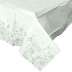 Silver Snowflakes Paper Tablecloth