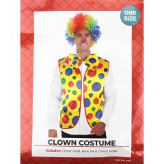 Adults Clown Vest and Bow Tie Set