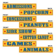 Circus Sign Decorations (Pack of 4)