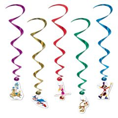 Circus Swirl Decorations (Pack of 5)
