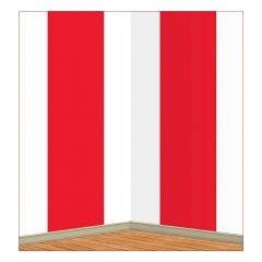 Red and White Stripes Backdrop