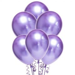 Chrome Purple Balloons 30cm Round (Pack of 10)