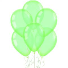 Neon Crystal Green Balloons 30cm (Pack of 10)
