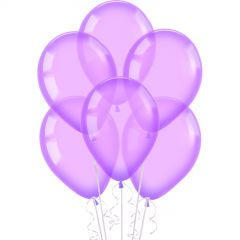Neon Crystal Purple Balloons 30cm (Pack of 10)