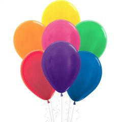 Assorted Coloured Shimmer Balloons (Pack of 18)