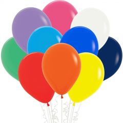 Assorted Coloured Balloons (Pack of 18)