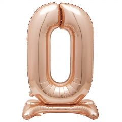 Rose Gold Foil Stand Up Air Fill 0 Balloon 76cm