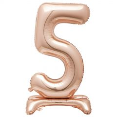 Rose Gold Foil Stand Up Air Fill 5 Balloon 76cm