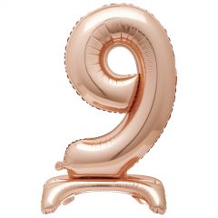 Rose Gold Foil Stand Up Air Fill 9 Balloon 76cm