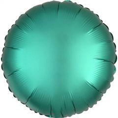 Round Shaped Teal Satin Luxe Foil Balloon 43cm