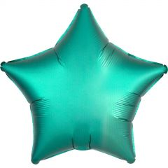 Star Shaped Teal Satin Luxe Foil Balloon 48cm