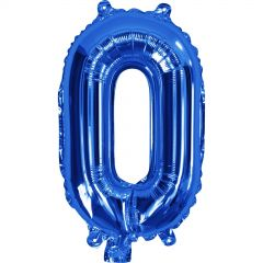 Blue Number 0 Balloon 35cm