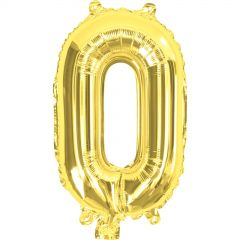 Gold Number 0 Balloon 35cm