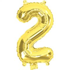 Gold Number 2 Balloon 35cm